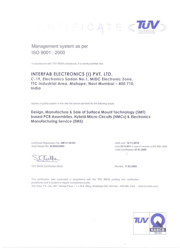 Welcome to Interfeb Electronics (I) Private Limited